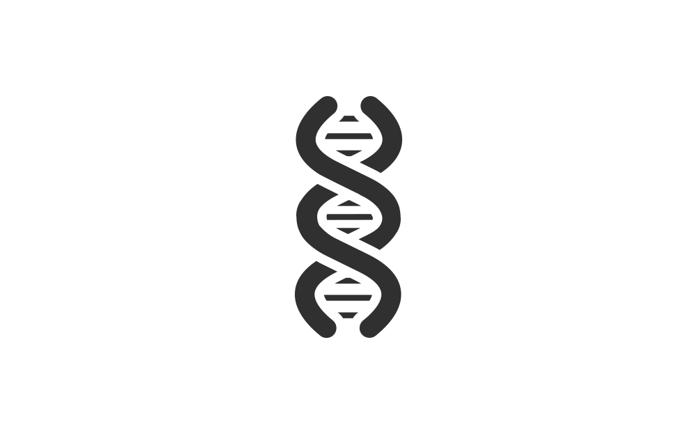 Vector icon of dna for genetic testing